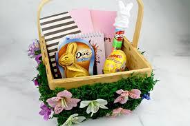 filled easter baskets diy flower easter basket family