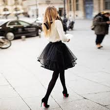 2017 cute petite black tulle skirts for women multi layer ribbon