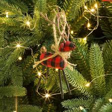 Outdoor Christmas Decorations Balls by Glitzhome 6 Piece Plaid Reindeer Ball Ornament Set U0026 Reviews Wayfair