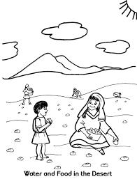 water and food in the desert coloring sheet wesleyan kids