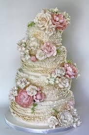 vintage wedding cakes ruffle wedding cakes wedding cake design 846537 weddbook