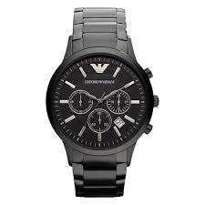 watches chronograph buy emporio armani ar2453 s black chronograph