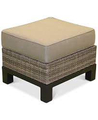 Wicker Outdoor Ottoman Northport Wicker Outdoor Ottoman With Sunbrella Cushion Created