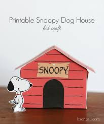brown christmas snoopy dog house printable snoopy dog house kid craft peanuts dog houses