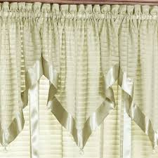 nimbus stripe swag valance window treatment