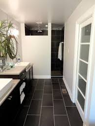Flooring Bathroom Ideas by Best 25 Black Bathroom Floor Ideas On Pinterest Powder Room