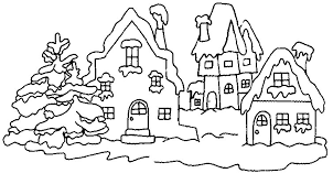 Winter Time Coloring Pages winter time coloring book
