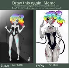 Draw This Again Meme Blank - draw this again meme cirquitte by appleminte on deviantart