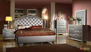 tufted bedroom furniture glamorous silver button tufted wing back bed faux croc bedroom