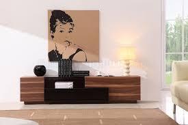 Living Room Light Stand Light Walnut Finish Modern Elegant Tv Stand