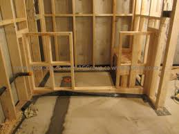 Basement Bathroom Shower Aggroup Inc Vanderheyden Basement Bathroom Shower Framing