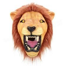 lion mask creepy angry lion mask animal eco friendly rubber