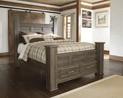 Wood Panel Bed Frame by Masculine Dark Smooth Finished Oak Wood Full Size Bed Frame Be