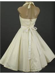 halter style wedding dresses vintage style tea length wedding dresses ivory 50s style