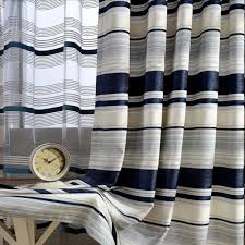 Navy And White Striped Curtains Design Navy Beige Thick Chenille Striped Curtains