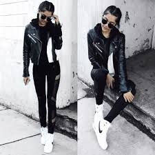 amazon black friday 2016 nike shoes florencia r blank nyc faux leather jacket amazon mesh leggings