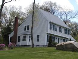 saltbox style home colonial revival classical adrian architecture interiors modern