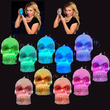 Glow Halloween Costume Led Skull Necklace Halloween Costume Flashing Blinking Glow Beads