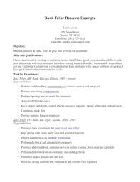 bank teller resume templates free samples examples