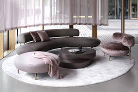 Curved Sofas Seductive Curved Sofas For A Modern Living Room Design