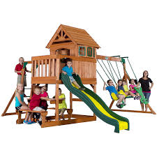 Amazon Backyard Playsets by Amazon Com Backyard Discovery Springboro All Cedar Wood Playset