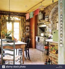country kitchen stock photos u0026 country kitchen stock images alamy
