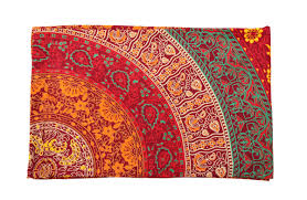 tapestry in multicolor with floral u0026 leafy motifs in circular
