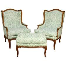 armless chair and ottoman set furniture armless chair with ottoman rocking wing white leopard