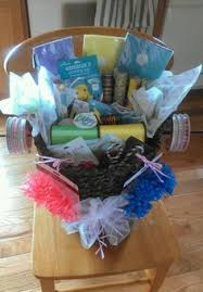 gift basket wrapping paper baby basket diapers as basket base and blankets 2 one as