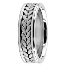 braided ring handmade platinum weave wedding band mens ring