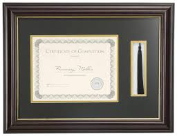 graduation frame 11 x 8 5 tassel and diploma frame black mat with gold trim