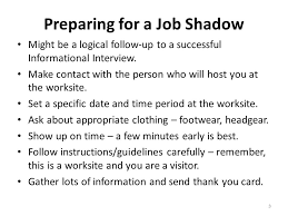 transition career exploration workshop job shadowing and