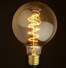 vintage light bulb retro edison style e27 spiral globe