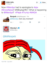 What Is S Meme - wendy s tweeted and quickly deleted a pepe meme