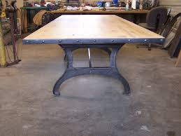 Industrial Dining Table Wood Top Industrial Dining Table U2013 Sold Stissing Design