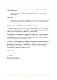 enmore spiritualist church letters sent to the plaintiffs u0027 solicitor