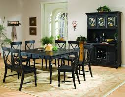 riverton stainless steel top dining room table set by standard