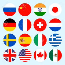 Flag Circle Circle Flags Of The World Flags Icons In Flat Style Simple
