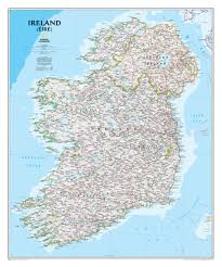 Classic Maps Ireland Wall Map Westeurope Countries Europe Wall Maps