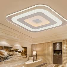 Square Ceiling Light Fixture by Modern Led Ceiling Lights For Indoor Lighting Plafon Led Square