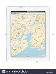 New York Google Map by Apple Ipad 2 Tablet Computer With A Map Of New York By Google Maps