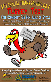 4th annual turkey trot set for thanksgiving day susanvillestuff