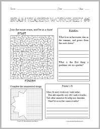 brain teasers worksheet 6 student handouts