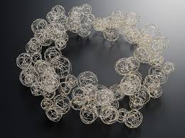 steel necklace wire images Haruko sugawara 39 s delicate wire jewelry daily art muse jpg