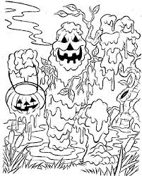 scary halloween color pages kids coloring
