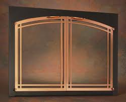 Arched Fireplace Doors by Fireplace Doors Portland Willamette Ovation Deco Arched