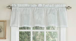 Sheer Valance Curtains Gridwork White Semi Sheer Valance Curtain Curtain Bath Outlet