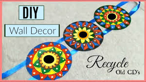 Hanging Wall Decor by Diy Mandala Wall Hanging Wall Decor From Old Cds Diy Cd Recycle