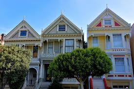 painted ladies victorian houses in san francisco california