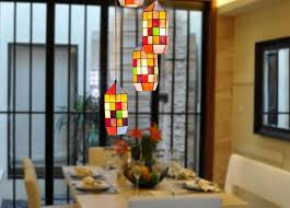 How High To Hang Pictures Colorful Tiffany Styled Chandelier Design For Contemporary Dining